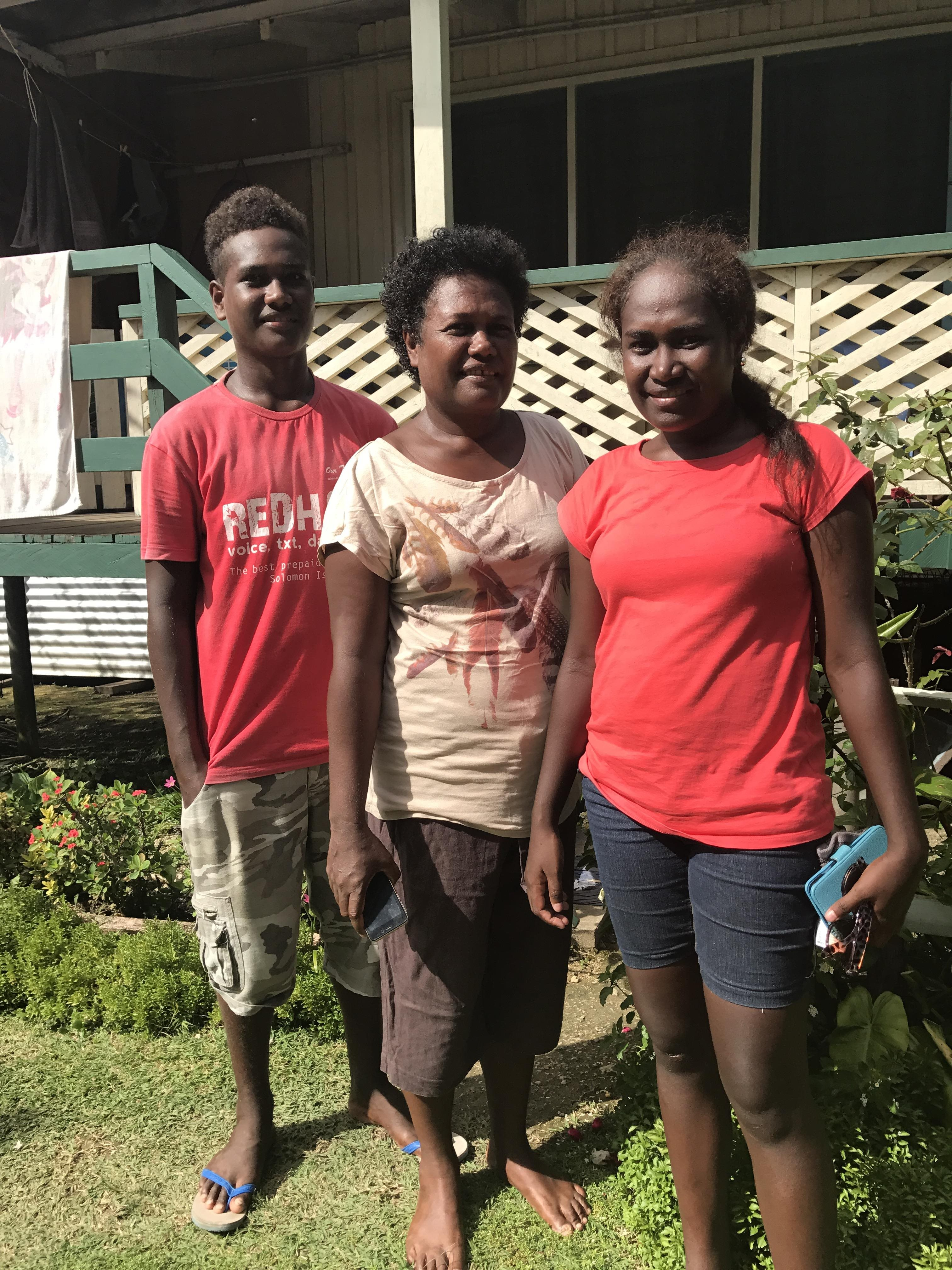 Roselyn - Back home with her family
